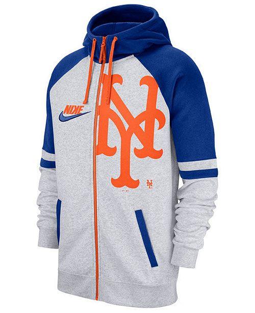 Nike Men's New York Mets Walkoff Full-Zip Hoodie