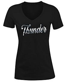 Women's Oklahoma City Thunder Foil V Neck T-Shirt