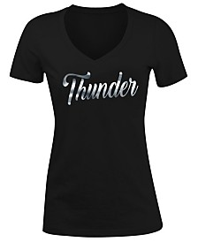 5th & Ocean Women's Oklahoma City Thunder Foil V Neck T-Shirt