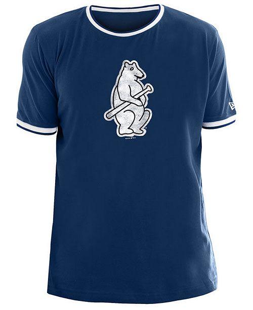 New Era Men's Chicago Cubs Ringer Crew Top