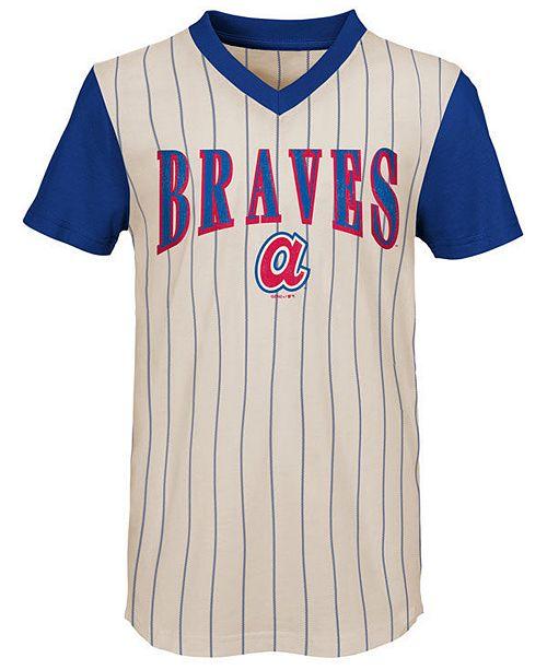 Outerstuff Big Boys Atlanta Braves Cooperstown Heavy Hitter T-Shirt