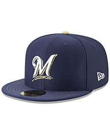 New Era Boys' Milwaukee Brewers Batting Practice 59FIFTY Cap
