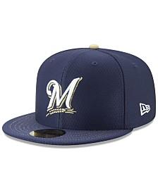 New Era Boys' Milwaukee Brewers Batting Practice 59FIFTY Cap