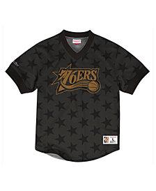 Mitchell & Ness Men's Philadelphia 76ers Kicking It Wordmark Mesh T-Shirt