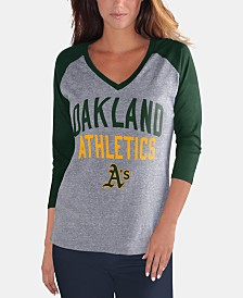 G-III Sports Women's Oakland Athletics It's a Game Raglan T-Shirt