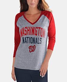 G-III Sports Women's Washington Nationals It's a Game Raglan T-Shirt