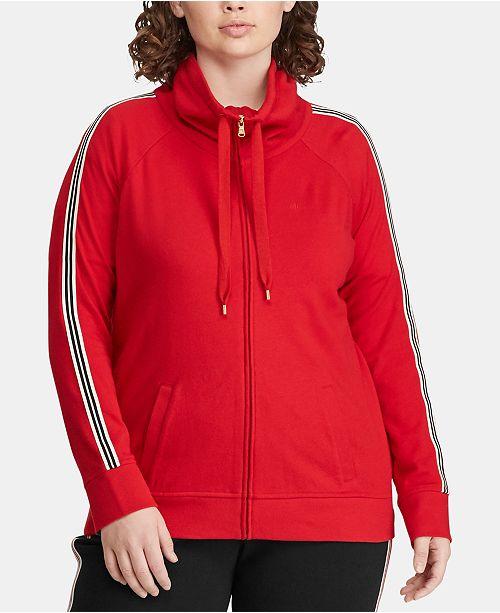 Lauren Ralph Lauren Plus Size Cotton Active Zip Front Jacket