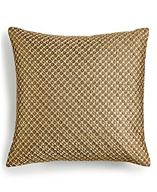 "CLOSEOUT! Handstitched Beaded 16"" x 16"" Decorative Pillow, Created for Macy's"