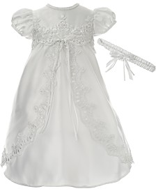 Lauren Madison Baby Girls 2-Pc. Christening Dress & Headband Set