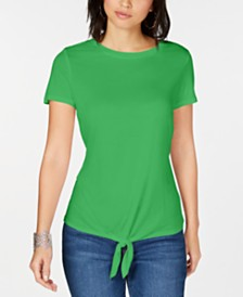I.N.C. Tie-Front T-Shirt, Created for Macy's