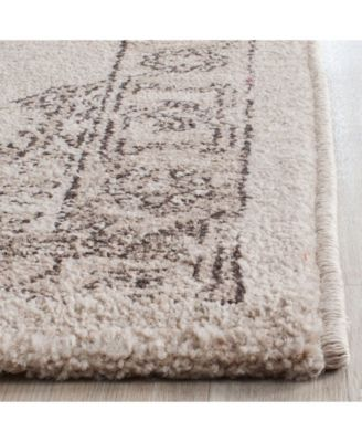 Carmel Beige and Brown 2' x 8' Runner Area Rug