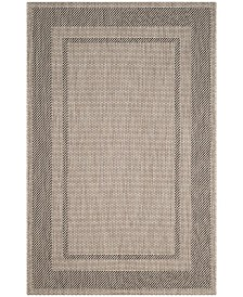 """Safavieh Courtyard Beige and Black 6'7"""" x 6'7"""" Square Area Rug"""