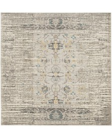 Monaco Gray and Multi 9' x 9' Square Area Rug
