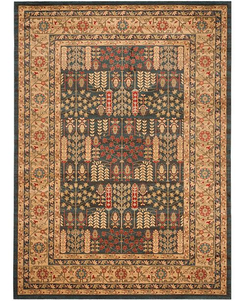 Safavieh Mahal Navy and Natural 11' x 16' Rectangle Area Rug