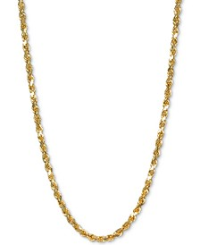 "Rope 30"" Chain Necklace in 14k Gold"