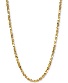 """Italian Gold Rope 20"""" Chain Necklace in 14k Gold"""