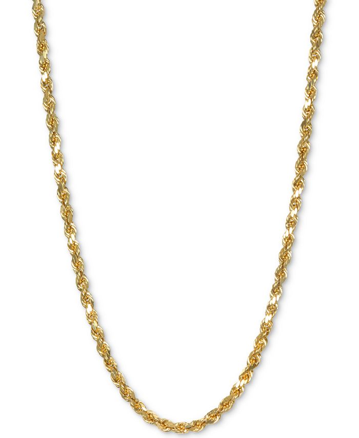 """Italian Gold - Rope 22"""" Chain Necklace in 14k Gold"""