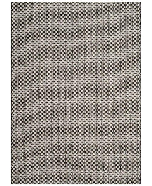 "Safavieh Courtyard Black and Light Gray 6'7"" x 6'7"" Sisal Weave Square Area Rug"