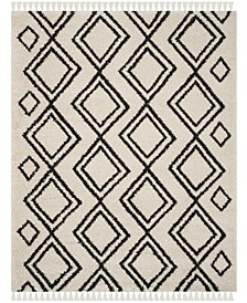 Moroccan Fringe Shag Cream and Charcoal 8' X 10' Area Rug