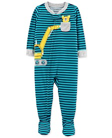 Carter's Baby Boys Construction Footed Pajamas