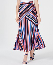 Petite Striped Maxi Skirt