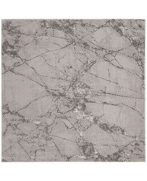 "Safavieh Lurex Gray 6'7"" x 6'7"" Square Area Rug"