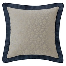 """Waterford Everett Teal 16"""" X 16"""" Square Collection Decorative Pillow"""