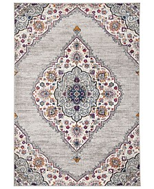 Safavieh Madison Light Gray and Fuchsia 8' x 10' Sisal Weave Area Rug