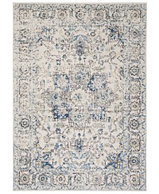 """Madison Gray and Ivory 6'7"""" x 6'7"""" Square Area Rug"""