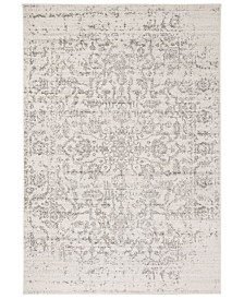 """Safavieh Madison Silver and Ivory 6'7"""" x 6'7"""" Round Area Rug"""