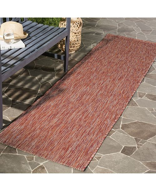 "Safavieh Courtyard Red 2'3"" x 10' Sisal Weave Runner Area Rug"