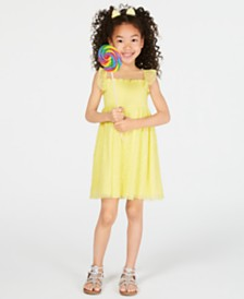 Epic Threads Little Girls Smocked Embroidered Butterfly Dress, Created for Macy's