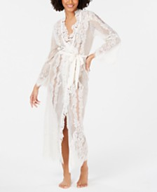 I.N.C. Ivory Lace Wrap Robe, Created for Macy's
