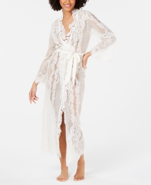 Vintage Nightgowns, Pajamas, Baby Dolls, Robes Inc Ivory Lace Wrap Robe Created for Macys $59.70 AT vintagedancer.com