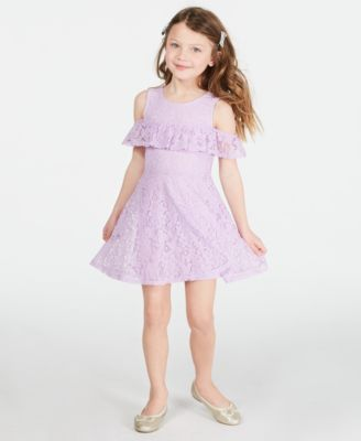Little Girls Floral Lace Dress, Created for Macy's