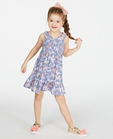 Epic Threads Toddler Girls Smocked Butterfly-Print Dress, Created for Macy's