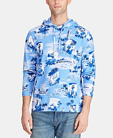 Men's Big & Tall Tropical Jersey Hooded T-Shirt