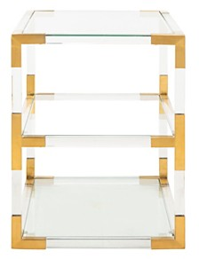 Louisa Acrylic End Table, Quick Ship