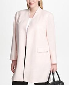 Calvin Klein Plus Size Tweed Topper Jacket
