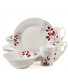 Scarlet Leaves 12 Piece Dinnerware Set