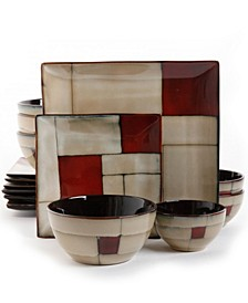 16 Piece Double Bowl Dinnerware Set