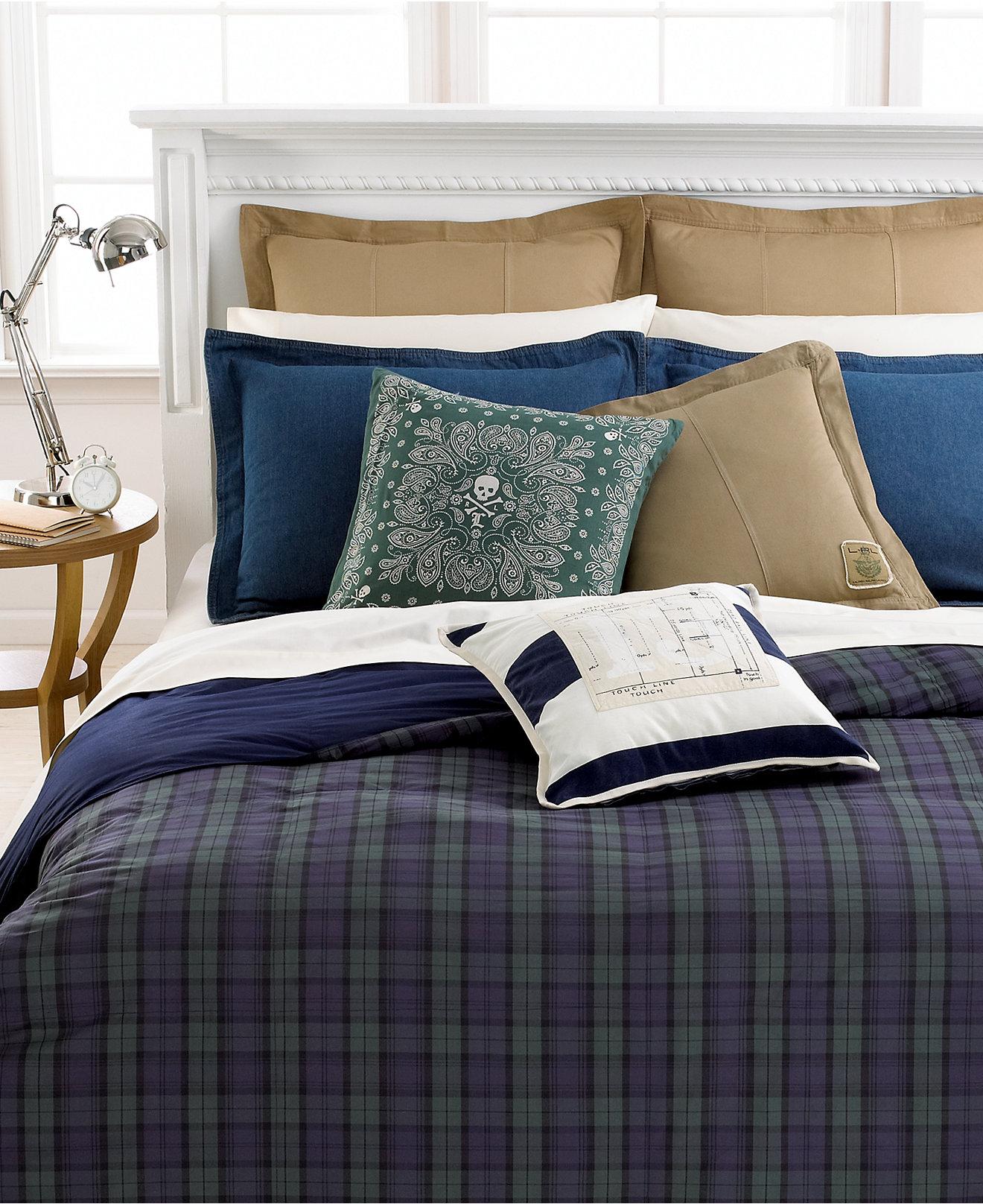 Marein ralph lauren twin plaid comforter for Ralph lauren bathroom