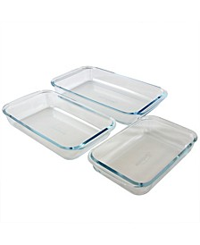 Sunbeam Everyday Casseroles 3 Piece Borosilicate Glass Bakeware Set