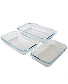Sunbeam Everyday Casseroles 3 Piece Borosilicate Glass Bakeware Set