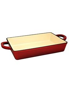 """Crock Pot Artisan 13"""" Enameled Cast Iron Lasagna Pan"""