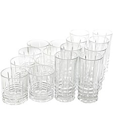 16 Piece Tumbler and Double Old Fashioned Glass Set