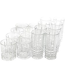 Jewelite 16 Piece Tumbler and Double Old Fashioned Glass Set