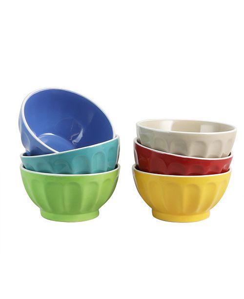 "Color Fun 6 Piece 6"" Cereal Bowl Set"