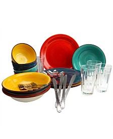Color Speckle 28 Piece Mix and Match Dinnerware Combo Set