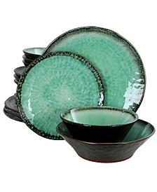 Green Lantern 16 Piece Double Bowl Dinnerware Set